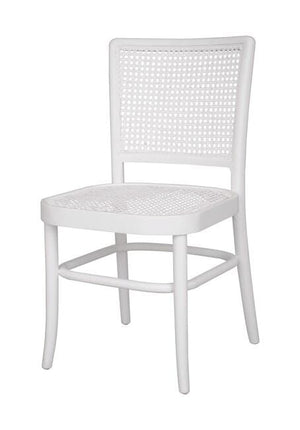 Load image into Gallery viewer, Palm Rattan Dining Chair White Matt Finish