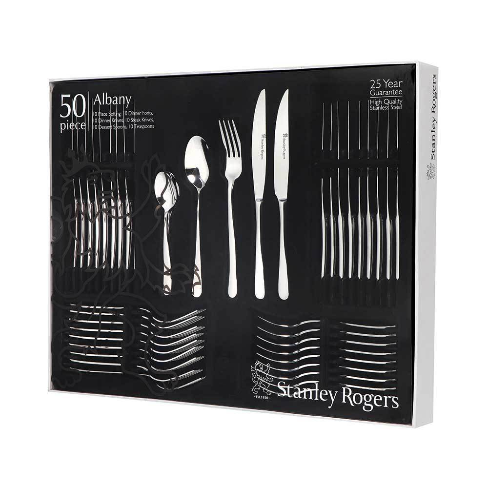 Stanley Rogers Albany 50 Piece Set with Steak Knives