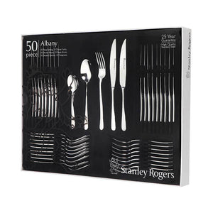 Stanley Rogers Albany 50 Piece Set with Steak Knives - Bronx Homewares