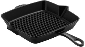 Load image into Gallery viewer, Staub American Square Grill, 26CM/10 inch, Black Matte - Bronx Homewares