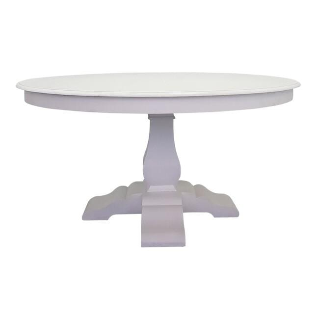 Country Cottage  Round Dining Table White