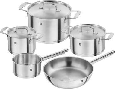 Zwilling Base Cookware Set with Fry Pan 5 Piece - Bronx Homewares