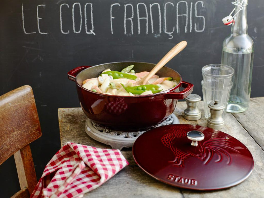 Staub French Rooster Cocotte, Grenadine, 24cm/3.6L - Bronx Homewares