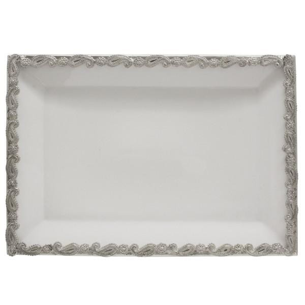Load image into Gallery viewer, Paisley Rectangular Platter