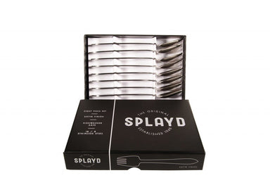 Splayd Black Label Stainless Steel Satin Set/8 - Bronx Homewares