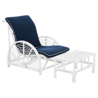 Havana Rattan Lounge Chair & Footstool Set by Alexander Santorini - Bronx Homewares