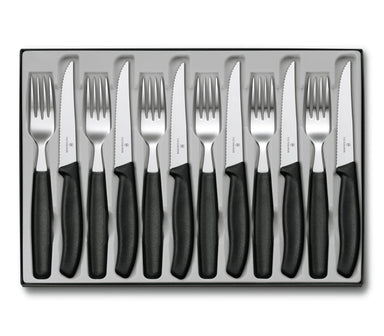 Victorinox Steak Knife & Fork 12 Pieces Set - Bronx Homewares