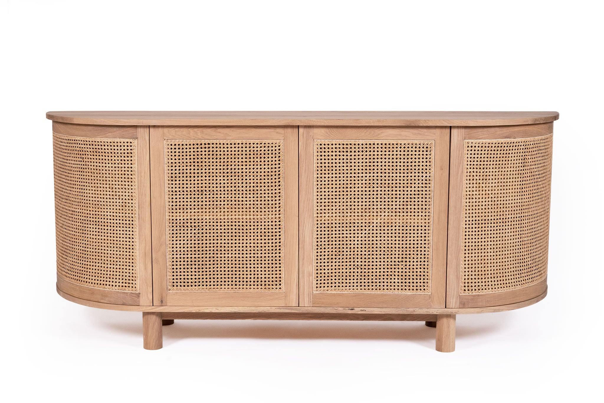 Iluka Four Door Sideboard – Rounded End