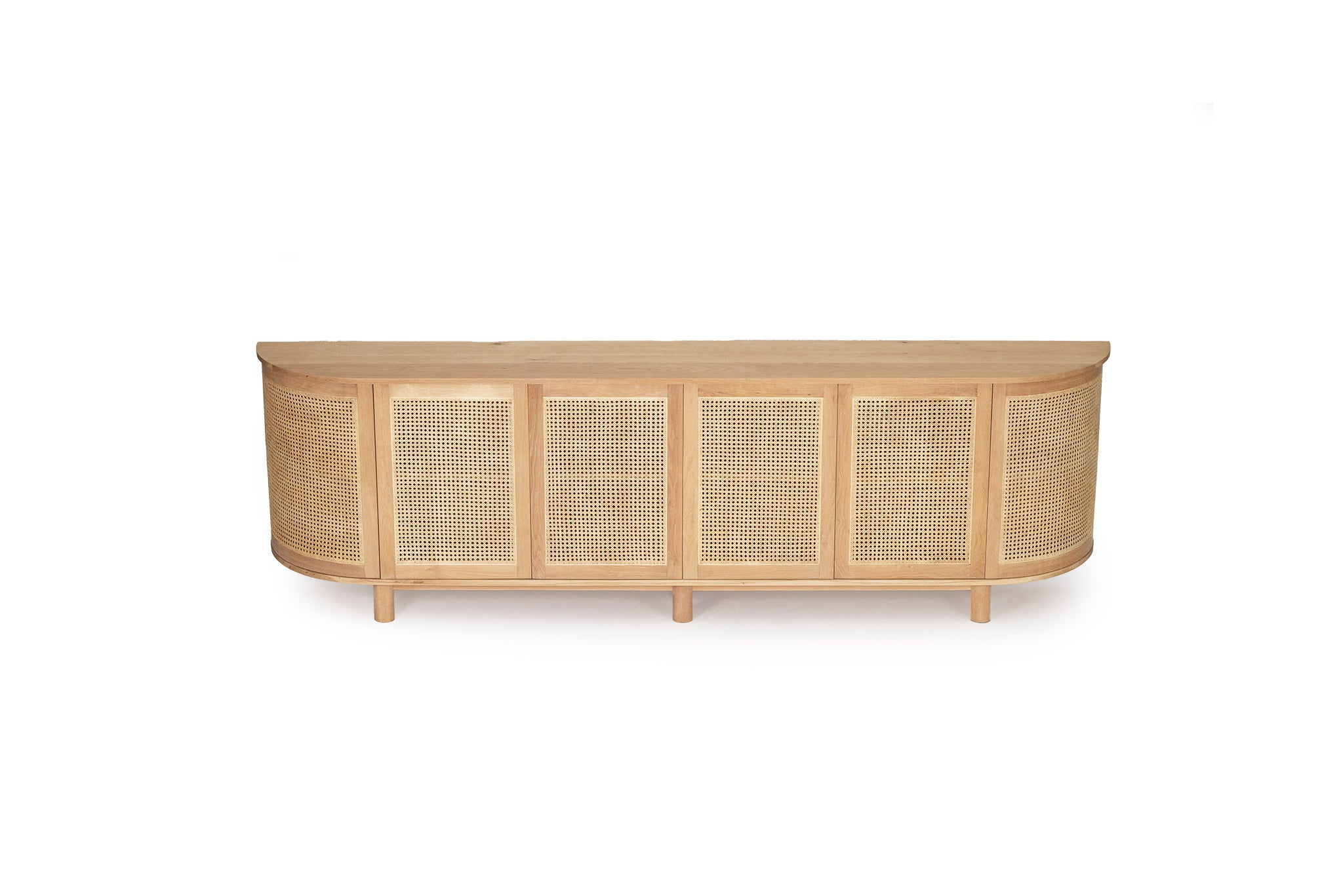 Iluka Six Door Sideboard – Rounded End