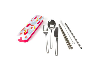 RETROKITCHEN Carry Your Cutlery - Stainless Steel Cutlery Set - Bronx Homewares
