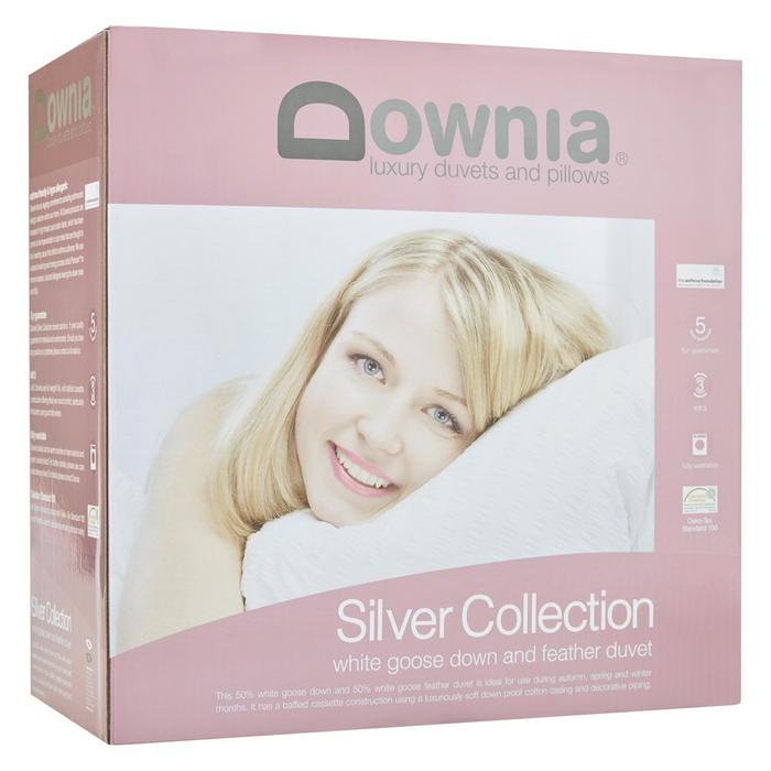 Downia White Goose Down & Feather Silver Collection