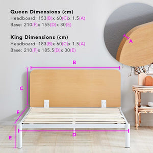 Canningvale Sogni D'oro Moderno Queen Bed Frame - Crisp White
