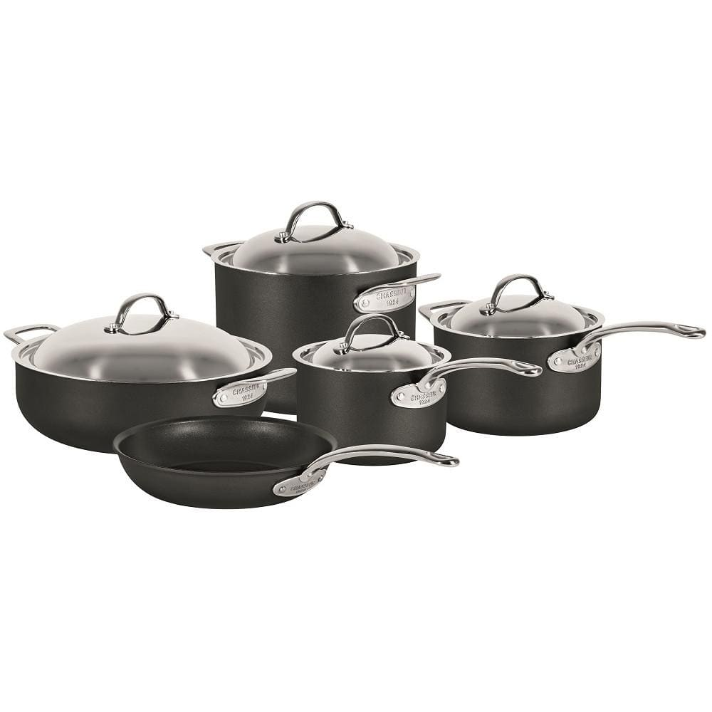 Chasseur Cinq Etoiles Hard Anodised Cookware Set of 5