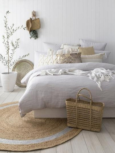 BAMBURY French Linen Quilt Cover Set - Bronx Homewares