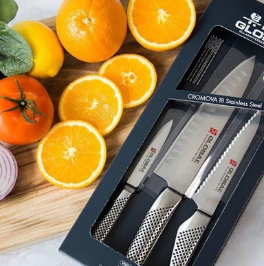 Global Classic 35th Anniversary 3pc Knife Set - Bronx Homewares
