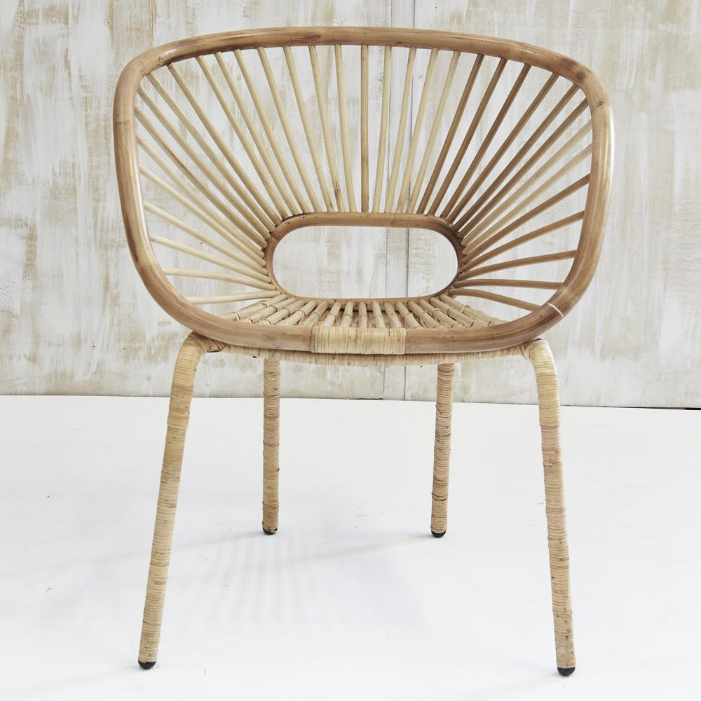 Kade Angular Rattan Armchair in Natural - Bronx Homewares
