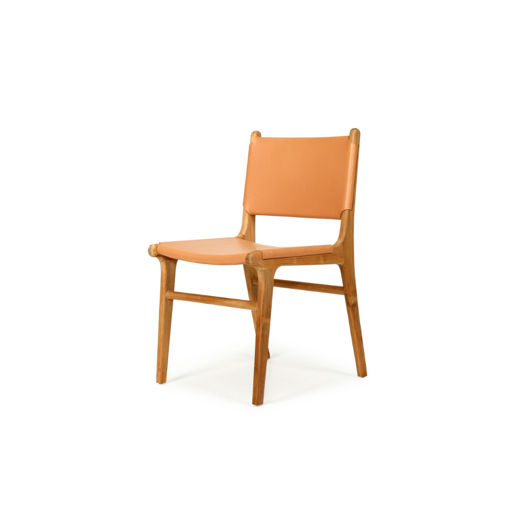 Pasadena Leather Side Chair – Natural