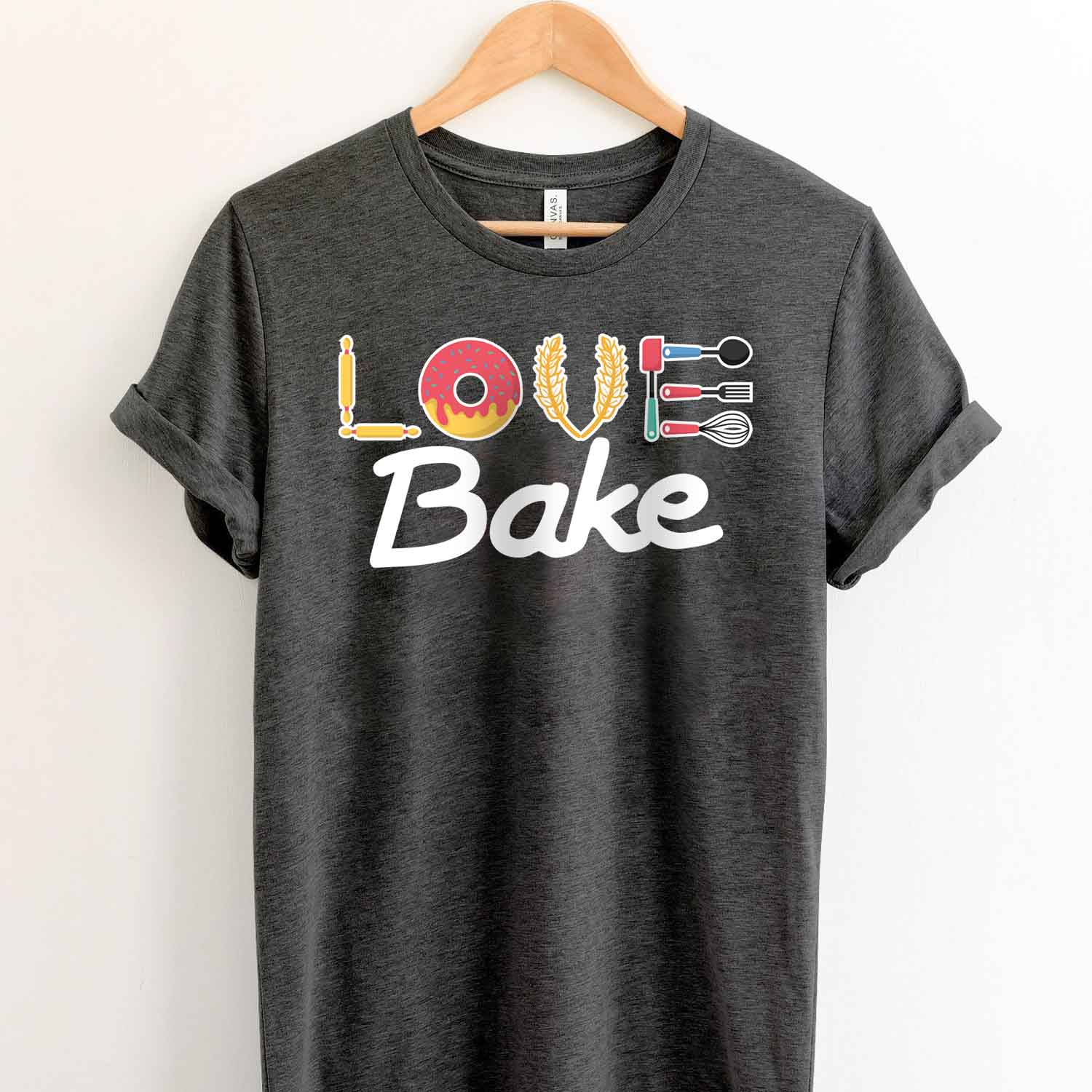 Love Bake T Shirt For Baking Lover