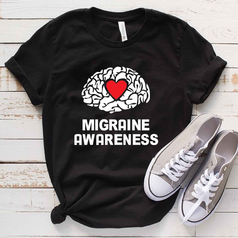Migraine Awareness T Shirt for Headache Survivor