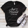 Just Married 2009 10th Wedding Anniversary Lovebirds Couples Surprise Gift T Shirt