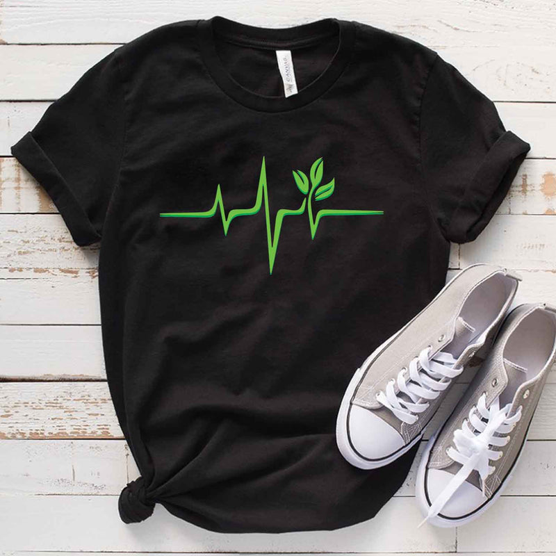 Garden Lovers Heartbeat T shirt