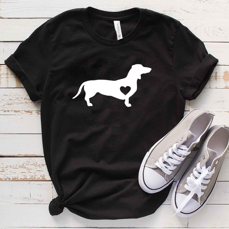 Dog with loving heart T shirt