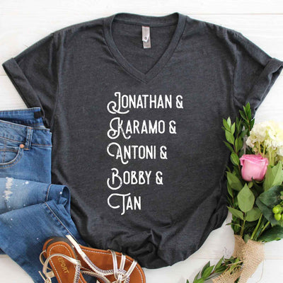 Jonathan, Karamo, Antoni, Bobby, Tan T Shirt, Queer Eye T-shirt