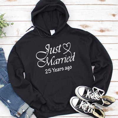 Just Married 1994 25th Wedding Anniversary Lovebirds Couples Surprise Gift T Shirt