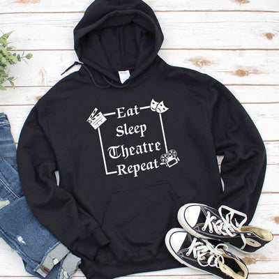 Eat Sleep Theater Repeat T Shirt For Actor Broadway T Shirt, Musical Theater Shirt