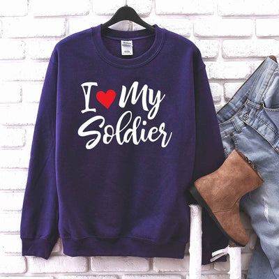 I Love My Soldier T shirt for Soldier Girlfriend wife T Shirt