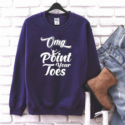 OMG Point Your Toes T Shirt for ballerinas