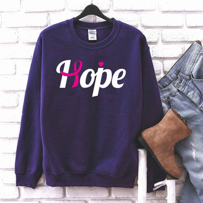 Hope Pink Ribbon T Shirt for Women Breast Cancer Awareness T Shirt