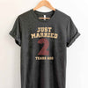 Just Married 2 Years Ago 2017 T Shirt Perfect Sweet Romantic Gift for Couple Husband Wife