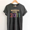 Married Since 2011 8th Wedding Anniversary Lovebirds Couples Surprise Gift T Shirt