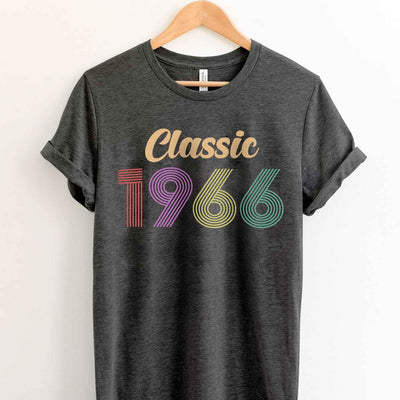 Vintage 1966 53th Birthday Anniversary T Shirt Gift for Family and Friend