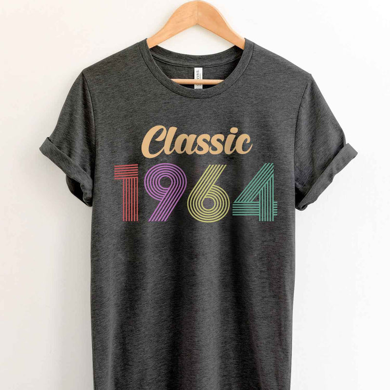 Vintage 1964 55th Birthday Anniversary T Shirt Gift for Family and Friend