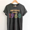 Vintage 1968 51st Birthday Anniversary T Shirt Gift for Family and Friend