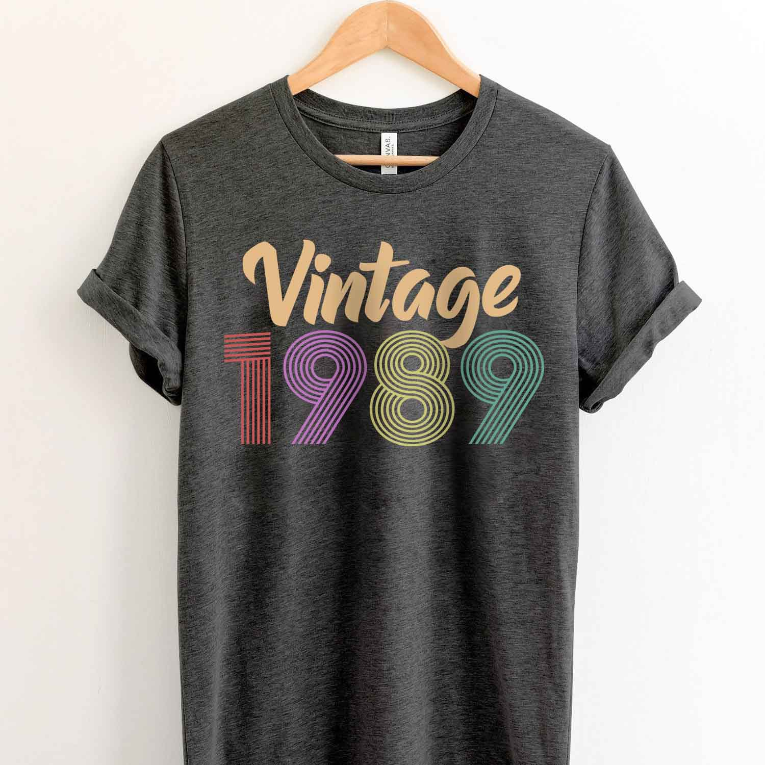 Vintage 1989 30th Birthday Anniversary T Shirt Gift for Family and Friend