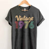 Vintage 1976 43th Birthday Anniversary T Shirt Gift for Family and Friend