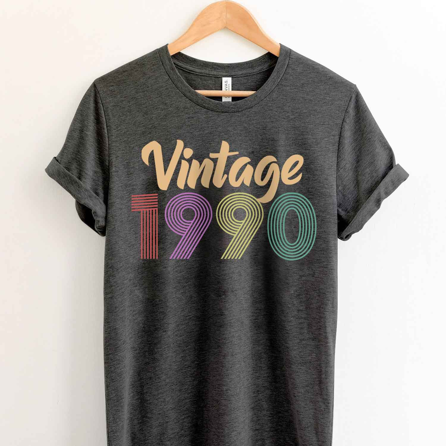 Vintage 1990 29th Birthday Anniversary T Shirt Gift for Family and Friend
