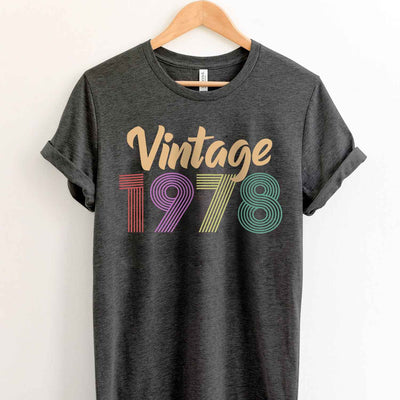 Vintage 1978 41st Birthday Anniversary T Shirt Gift for Family and Friend