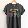 Vintage 1996 23rd Birthday Anniversary T Shirt Gift for Family and Friend