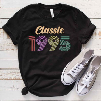Vintage 1995 24th Birthday Anniversary T Shirt Gift for Family and Friend
