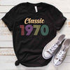 Vintage 1970 49th Birthday Anniversary T Shirt Gift for Family and Friend