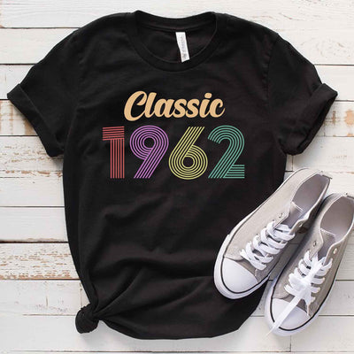 Vintage 1962 57th Birthday Anniversary T Shirt Gift for Family and Friend