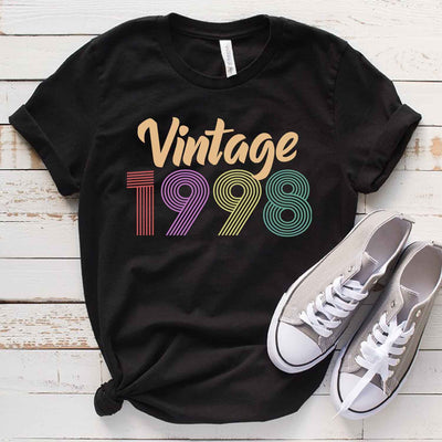 Vintage 1998 21st Birthday Anniversary T Shirt Gift for Family and Friend