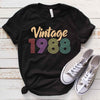 Vintage 1988 31st Birthday Anniversary T Shirt Gift for Family and Friend