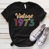 Vintage 1973 46th Birthday Anniversary T Shirt Gift for Family and Friend