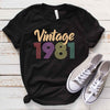 Vintage 1981 38th Birthday Anniversary T Shirt Gift for Family and Friend