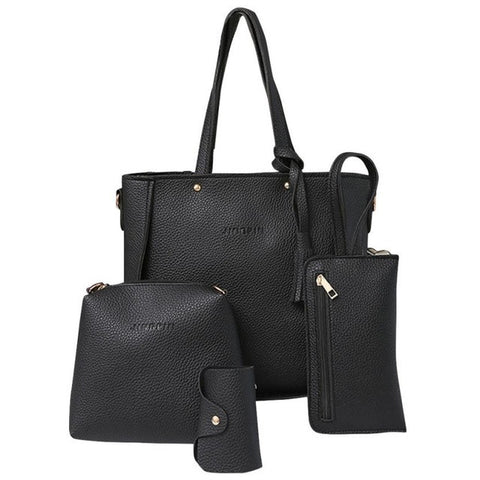 Combo 4 PCs women bag set leather